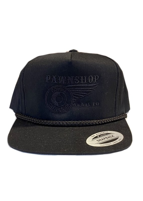 Pawnshop Pawn Black Embroidered Rope Hat