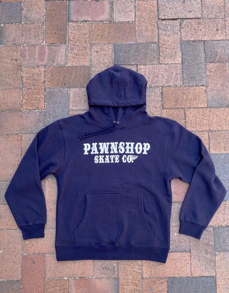Wing & Wheel Pawnshop Print Stamp Hoodies