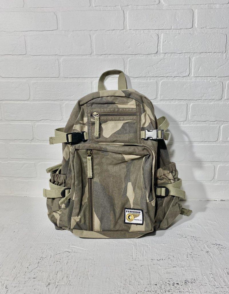 Pawnshop Pawn Vintage Mini Canvas Backpack
