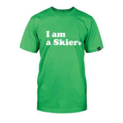Line Skis Line I Am A Skier Men's T-Shirt Green