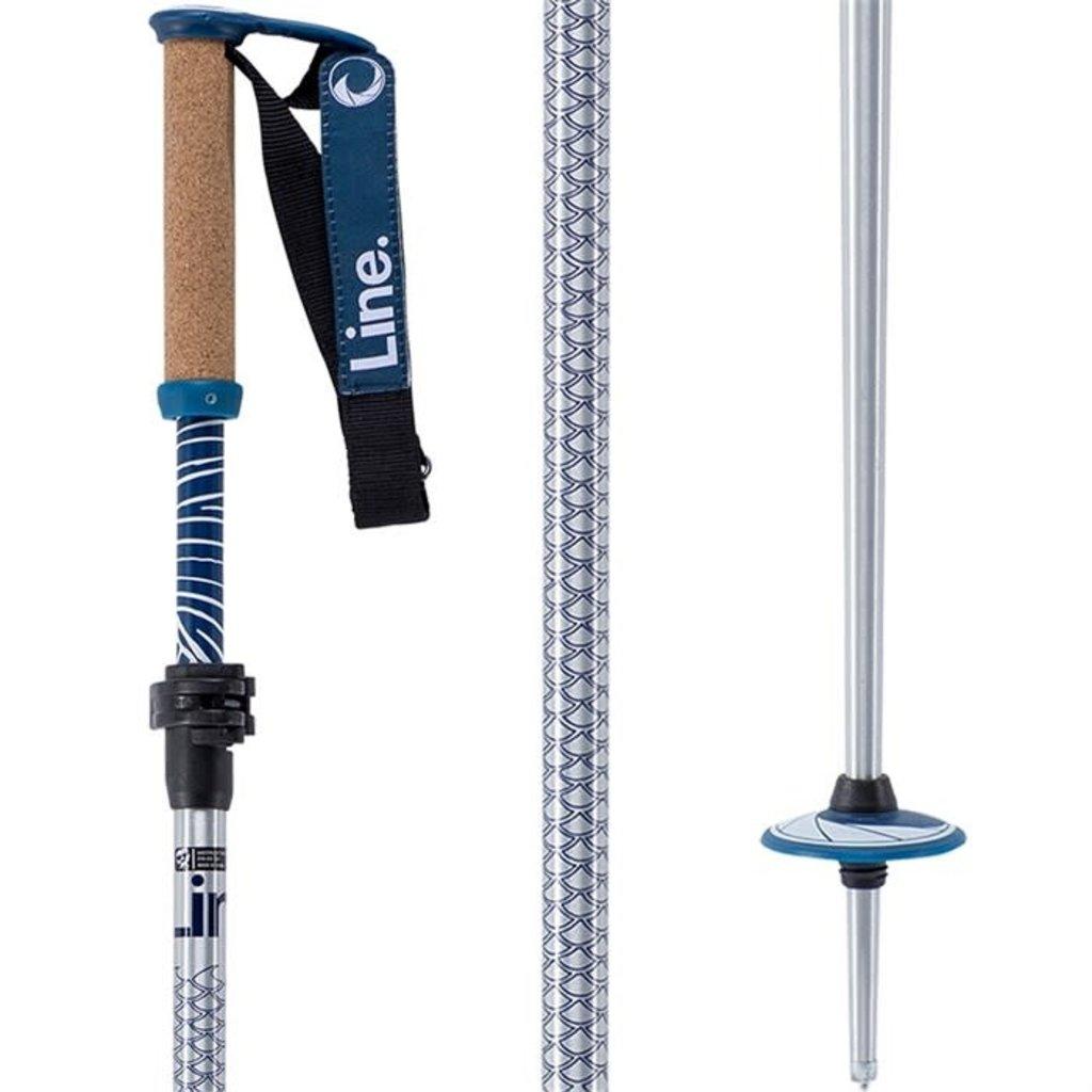 Line Skis Line Pollards Paintbrush Adjustable Ski Pole Silver/Blue