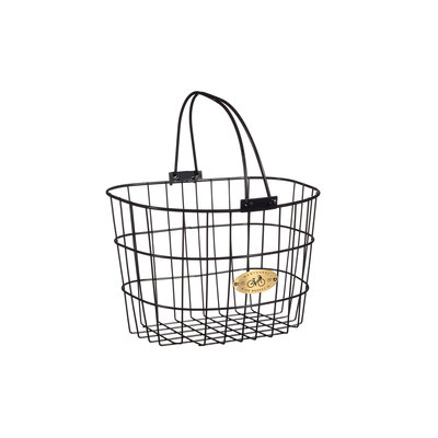 Nantucket Bike Basket Nantucket Surfside Adult Wire D Handlebar Basket - Black