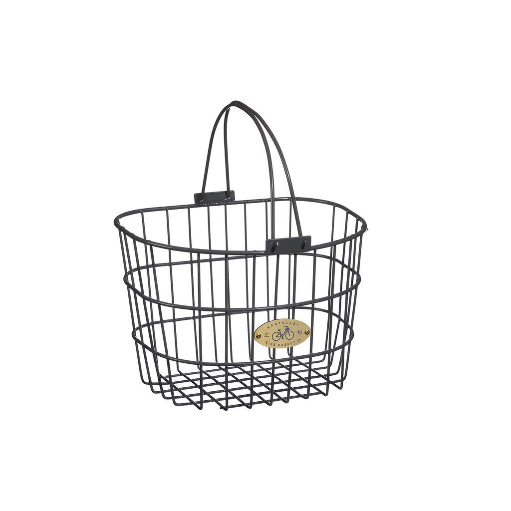 Nantucket Bike Basket Nantucket Surfside Rear Wire D Pannier Basket - Gray