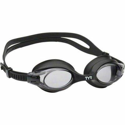 TYR TYR Big Swimple Goggle: Black Frame/Smoke Lens