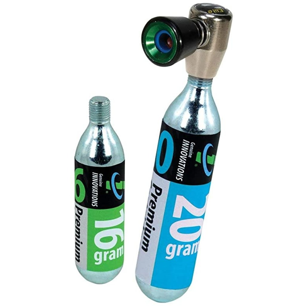 Genuine Innovations Genuine Innovations Air Chuck Elite Inflator: Includes 16gram and 20gram CO2 Cartridge