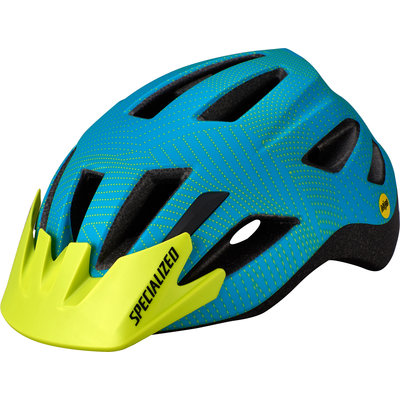 Specialized Specialized Shuffle LED MIPS CPSC Youth Helmet Aqua/Hyper Green Dot Plane