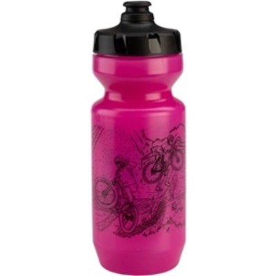 All-City All-City Purist Water Bottle: 22oz, 10th Anniversary, Pink