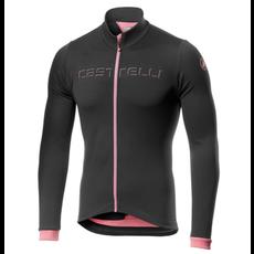 castelli Castelli Men's Fondo Jersey - Dark Gray/Pink