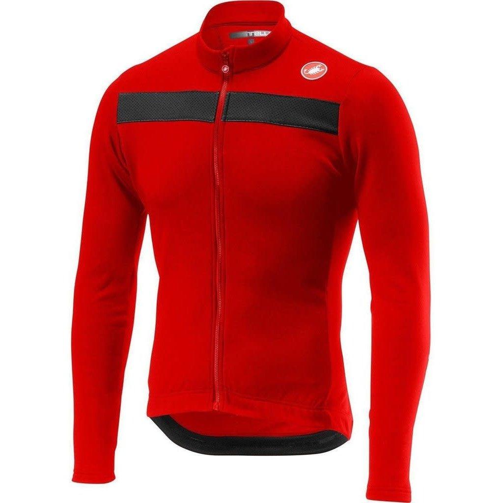 castelli Castelli Men's Puro 3 Jersey LS- Matador Red