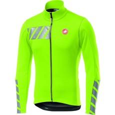 castelli Castelli Men's Raddoppia 2 Jacket - Yellow Fluoro