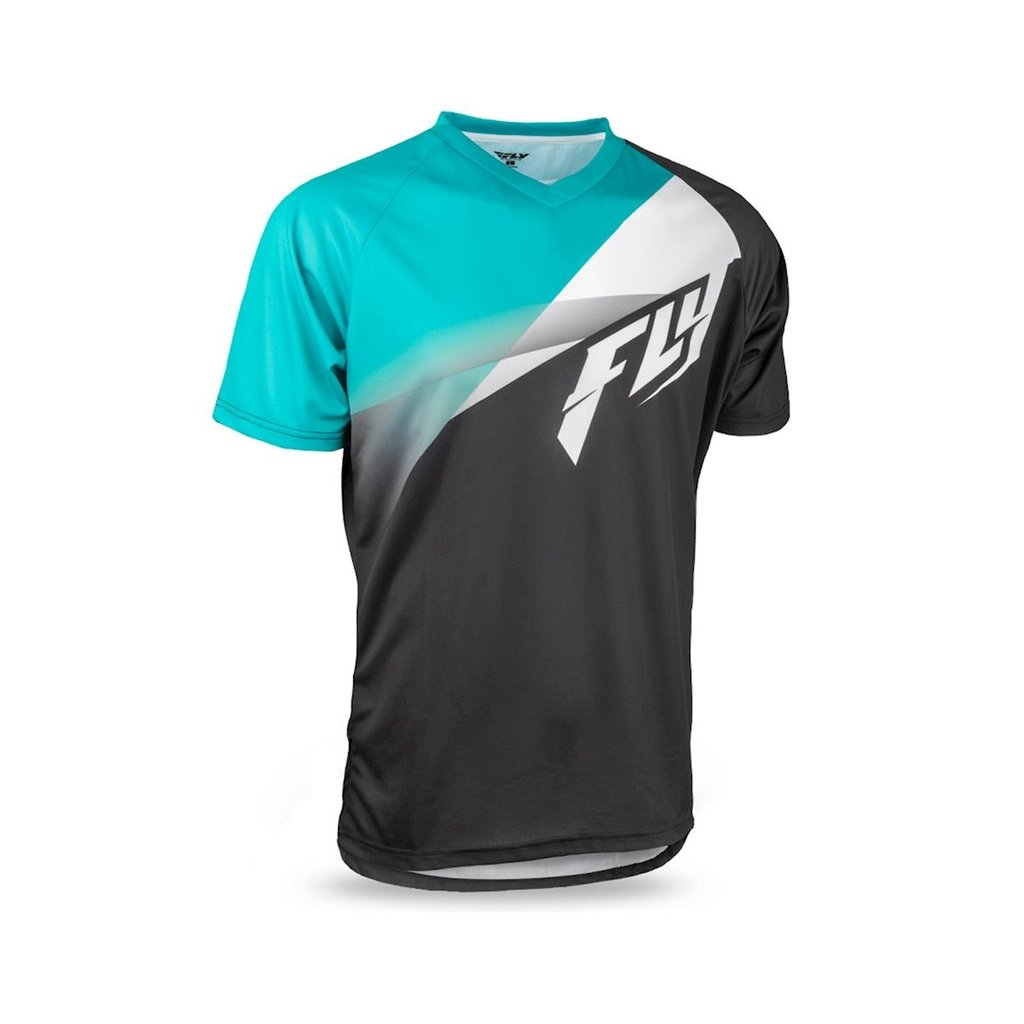 FLY RACING FLY Super D Jersey Black/Teal/White