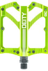 Deity Deity, Bladerunner, Pédales plateformes, Corps: Aluminium, Axe: Cr-Mo, 9/16'', Vert, Paire