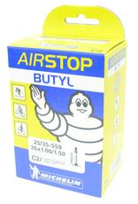 Michelin Michelin, Airstop Butyl, Tube, Presta, 52mm, 700x18-25C