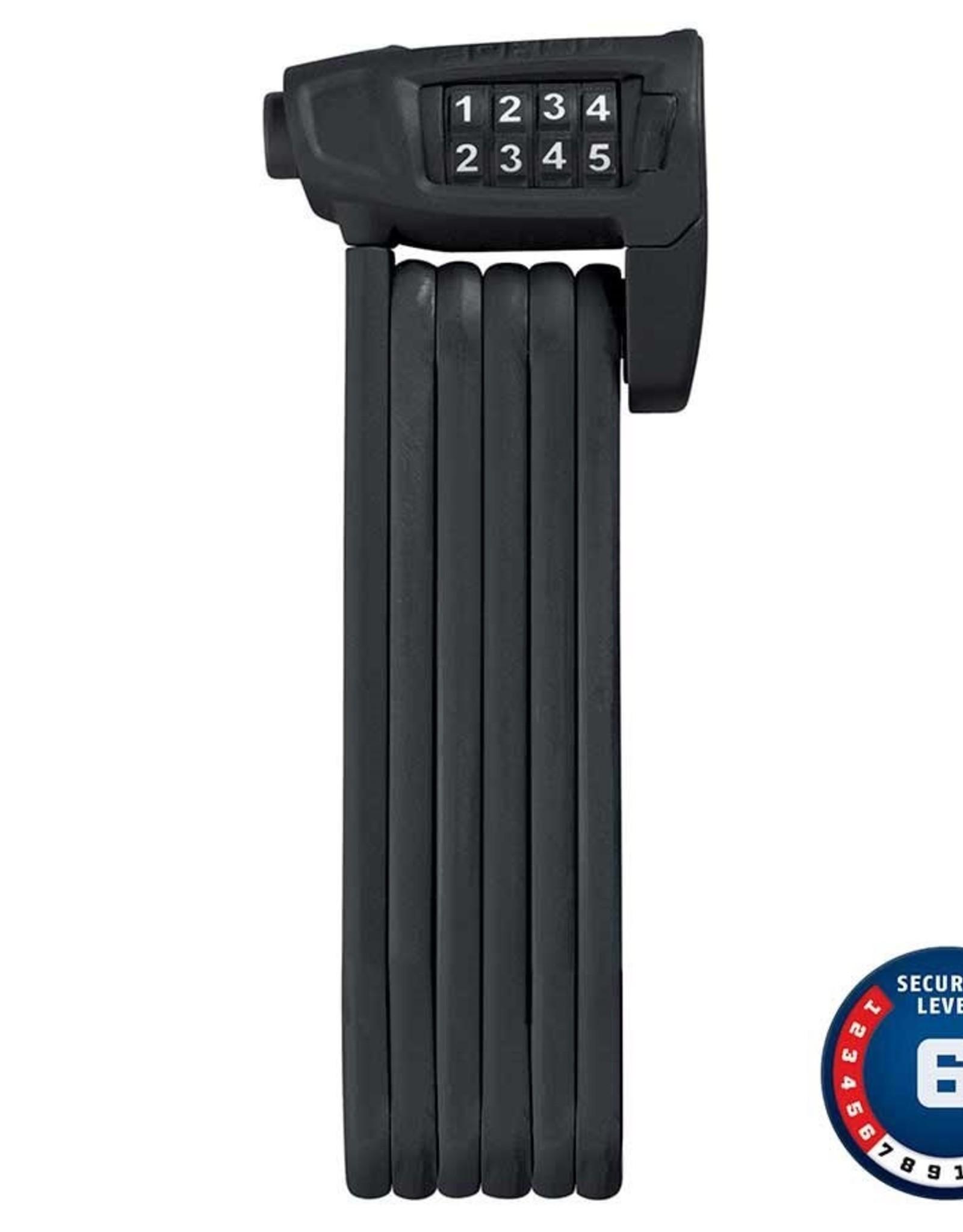 Abus Abus, Bordo Lite 6150, Cadenas pliable avec serrure à combinaison, 85cm (2.8'), Noir