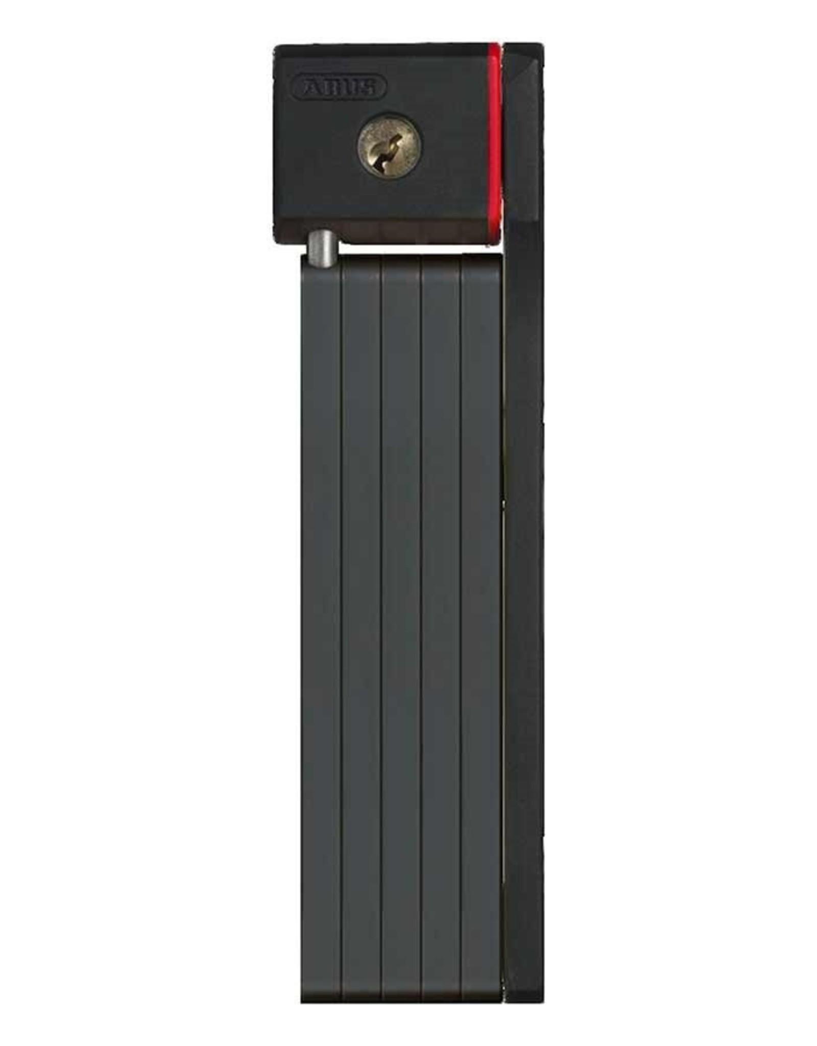 Abus Abus, Ugrip Bordo 5700, Cadenas pliable avec serrure à clé, 80cm (2.6'), Noir