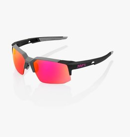 100 Percent LUNETTES 100% SpeedCoupe, Soft Tact Graphite frame, Purple Multilayer Mirror Lens