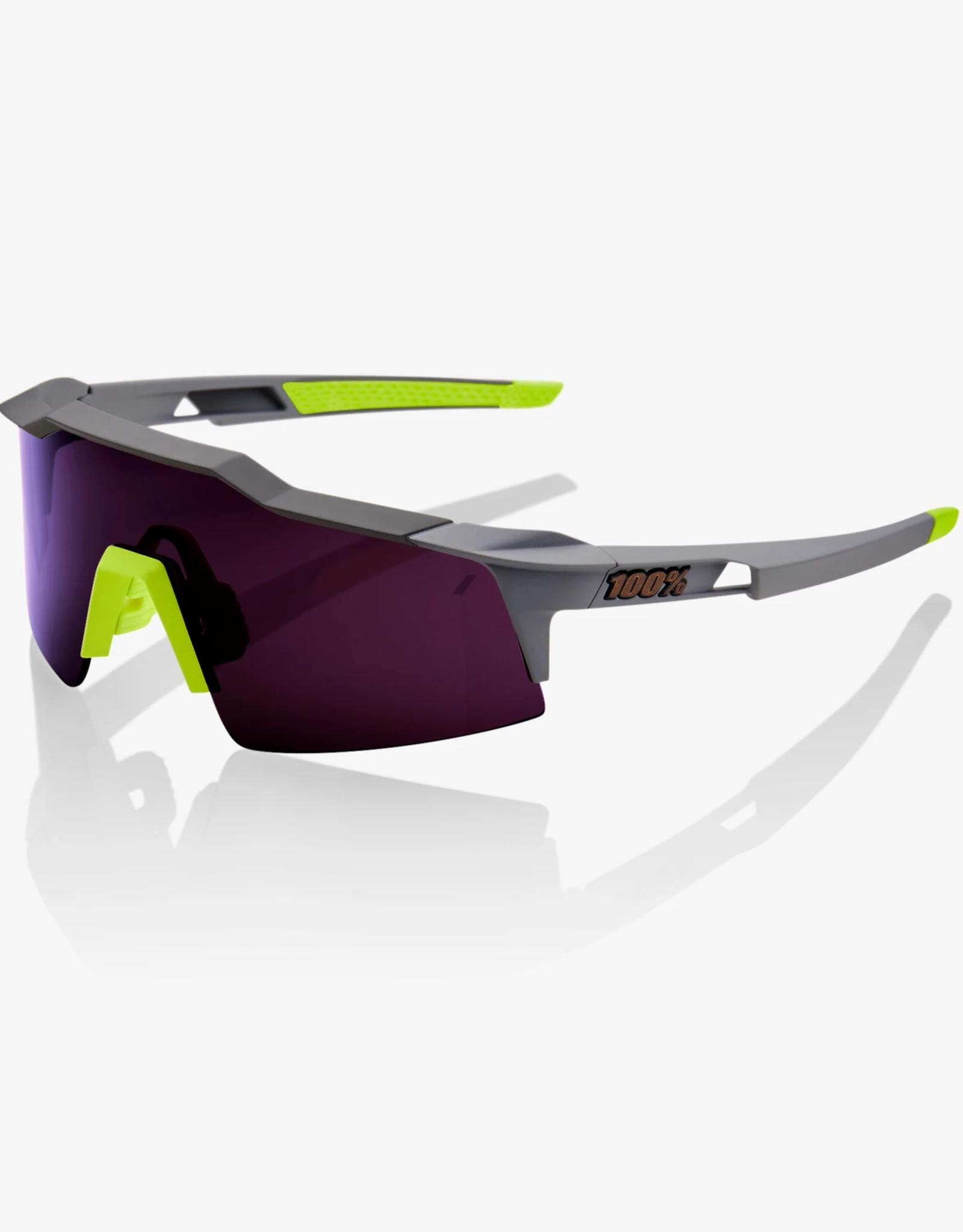 100 Percent LUNETTES 100% SpeedCraft Short (SL), Midnight Mauve frame - Dark Purple Lens