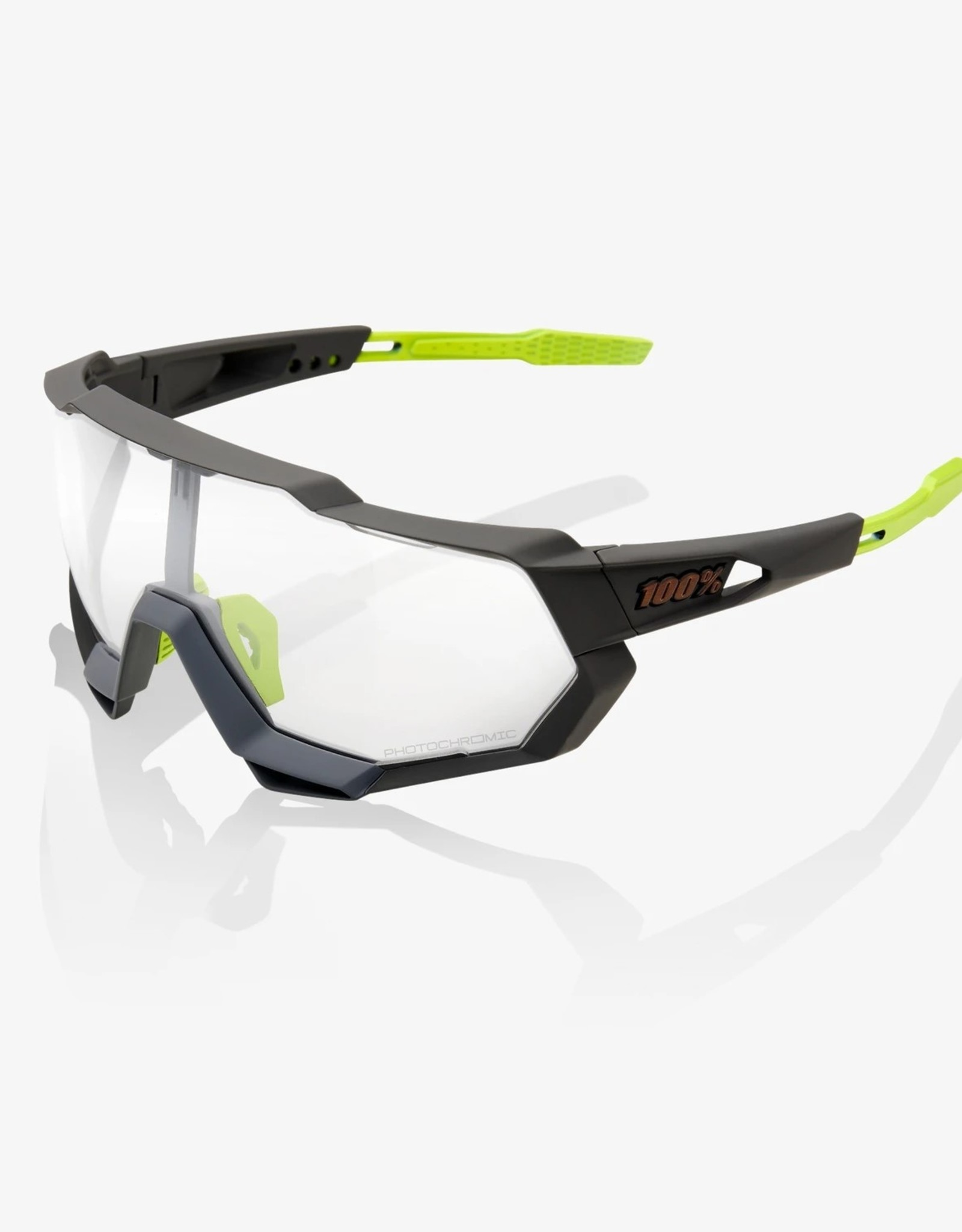 100 Percent LUNETTES 100% SpeedTrap, Soft Tact Cool Grey frame - Photochromatic Lens