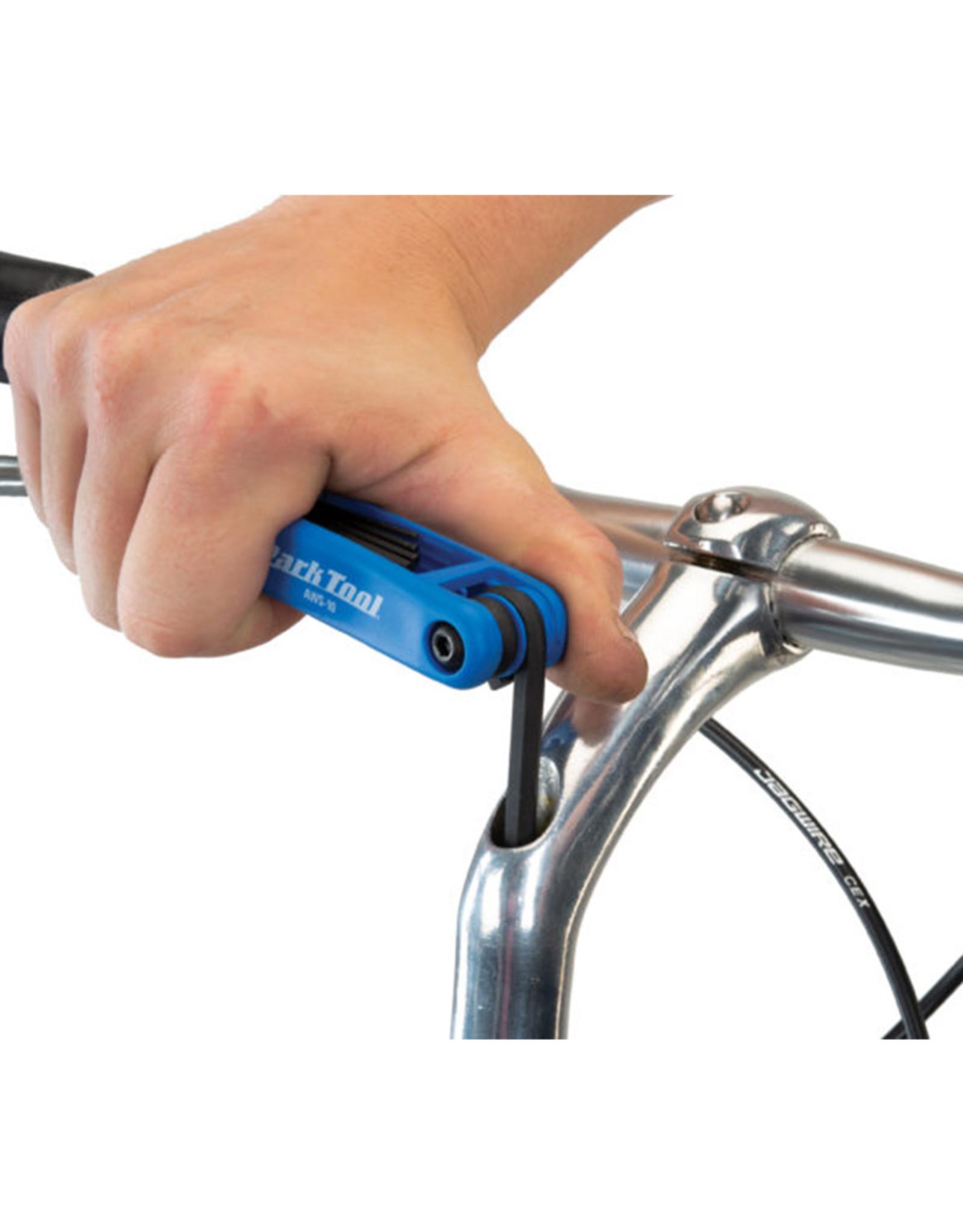 Park Tool Park Tool, AWS-10, Clés hexagonales repliables, 1.5mm, 2mm, 2.5mm, 3m, 4mm, 5mm et 6mm