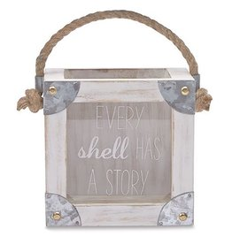 Mud Pie Sea Shells Collection Display Box W Tin Accents Every Shell