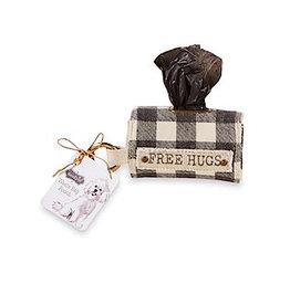 Mud Pie Doggie Bag Pouch Set W Dog Poo Bags FREE HUGS