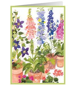 Caspari Birthday Card Potted Flowers