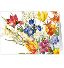 Caspari Birthday Card Redoute Floral Bouquet Flowers