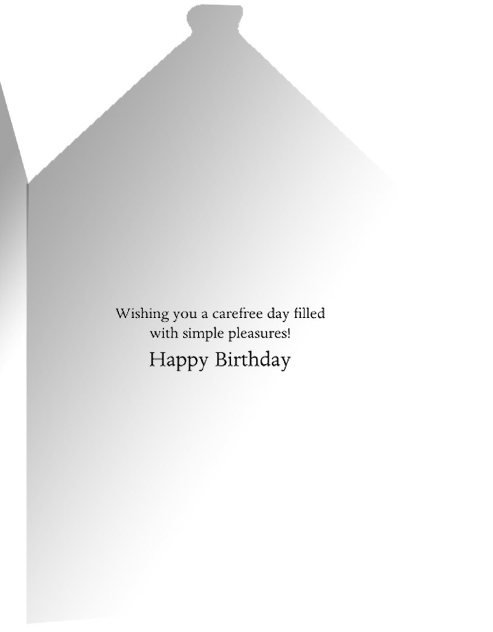 Caspari Birthday Card Cat And Greenhouse