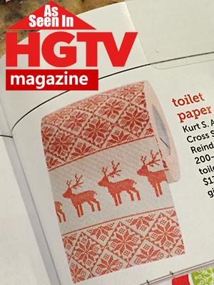 Christmas Toilet Paper Novelty Desinger Toilet Paper