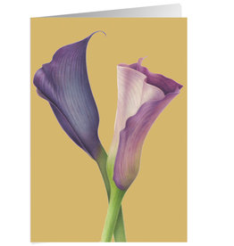 Caspari Sympathy Card Purple Calla Lillies