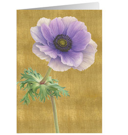 Caspari Sympathy Card Purple Anemone