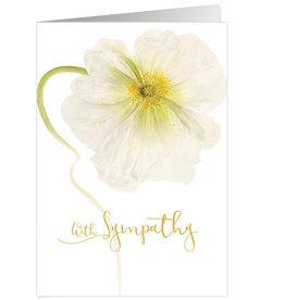 Caspari Sympathy Card White Poppy