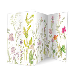 Caspari Blank Card Wildflowers Triple Accordion