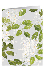 Caspari Blank Card Blanc De Blancs Flowers
