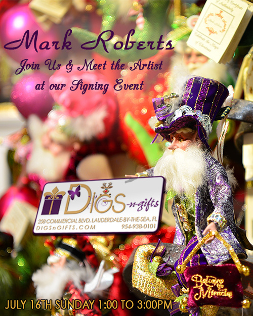 Mark Roberts Signing Event Tour begins at Digs N Gifts!