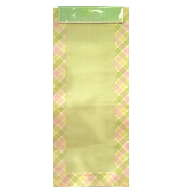 Digs Table Runner Cotton Light Green w Pastel Border 14x72