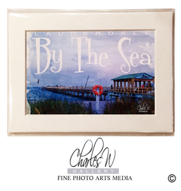 Charles W Frameable Photo Art Cards Lauderdale By The Sea Fishing Pier
