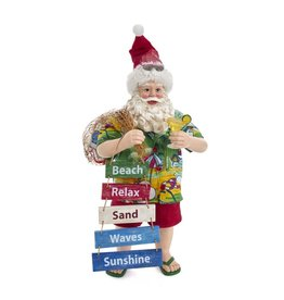 Kurt Adler Fabriche Beach Santa Tabletop Decor Piece