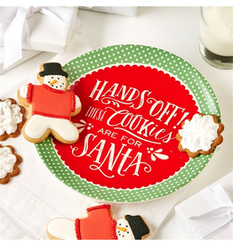 Twos Company Hands Off These Cookies Are For Santa Cookie Plate