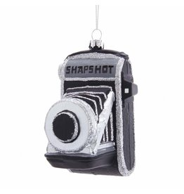 Kurt Adler Glass Retro Camera Ornament