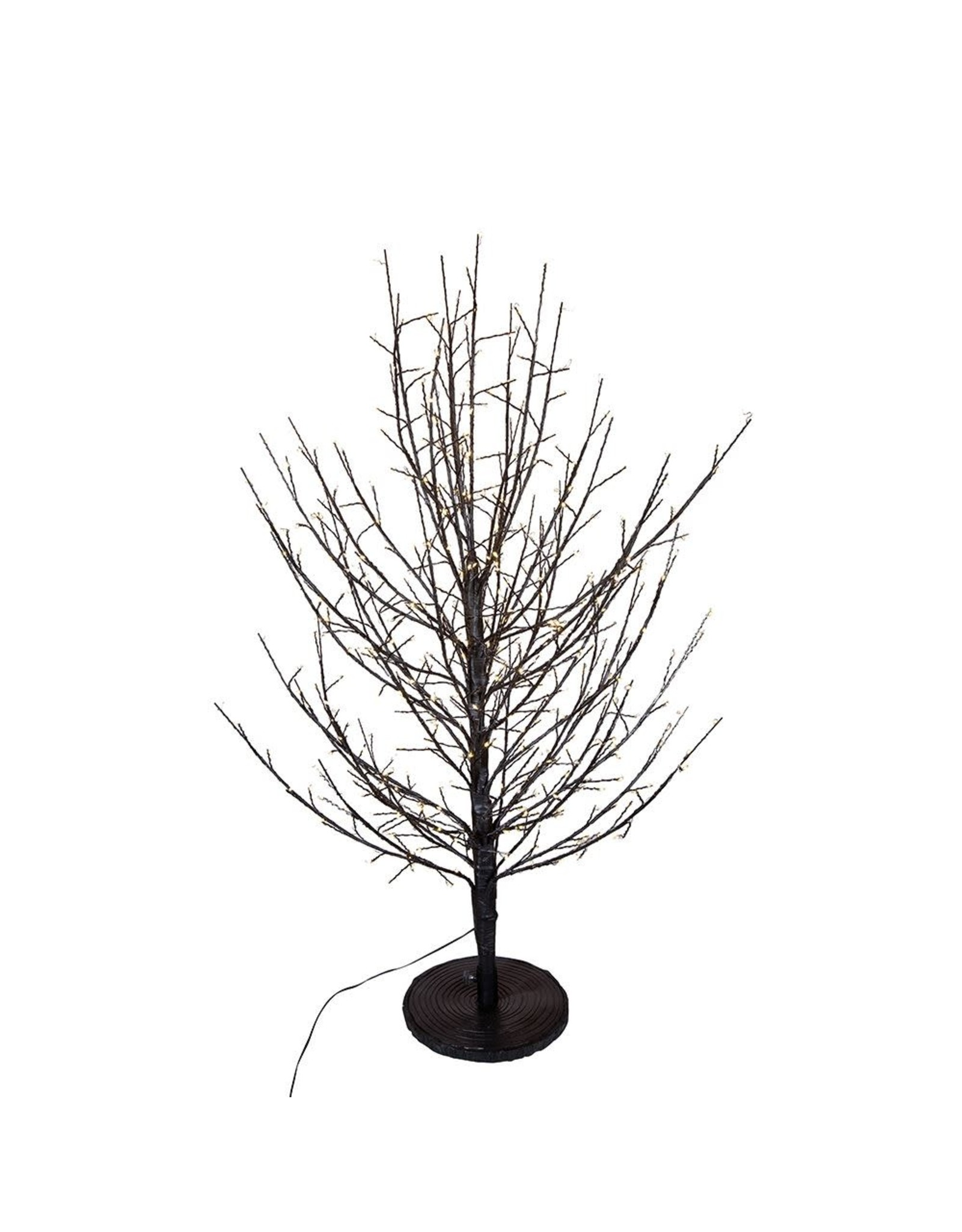 Kurt Adler Pre-Lit Dark Brown Branch Twig Tree 3 FT Warm White Lights