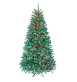 Kurt Adler Christmas Tree Pre-Lit 7 FT Pine Tree w 350 Multi Color Lights 1026 Tips-FLOOR SAMPLE 1/2 OFF now $118