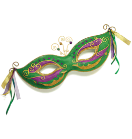 Burton and Burton Mardi Gras Mask Hanging Wall Decor 10x27