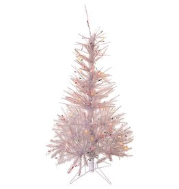 Kurt Adler Pre-Lit Glisten Pine Tree 4.5 FT Iridescent W Multi Color Lights