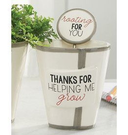 Mud Pie Teacher Herb Pot And Soil Marker Set Thanks For Helping Me Grow