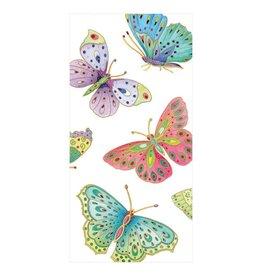 Caspari Paper Facial Tissues Package of 10 Hankies Jeweled Butterflies