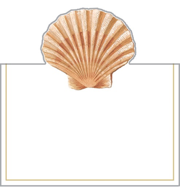 Caspari Place Cards Tent Style 8pk Seaside Sea Shell