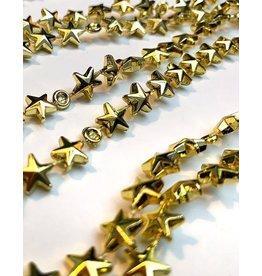 Kurt Adler Mini Garlands Gold Stars 9FT Miniature Tree Garland