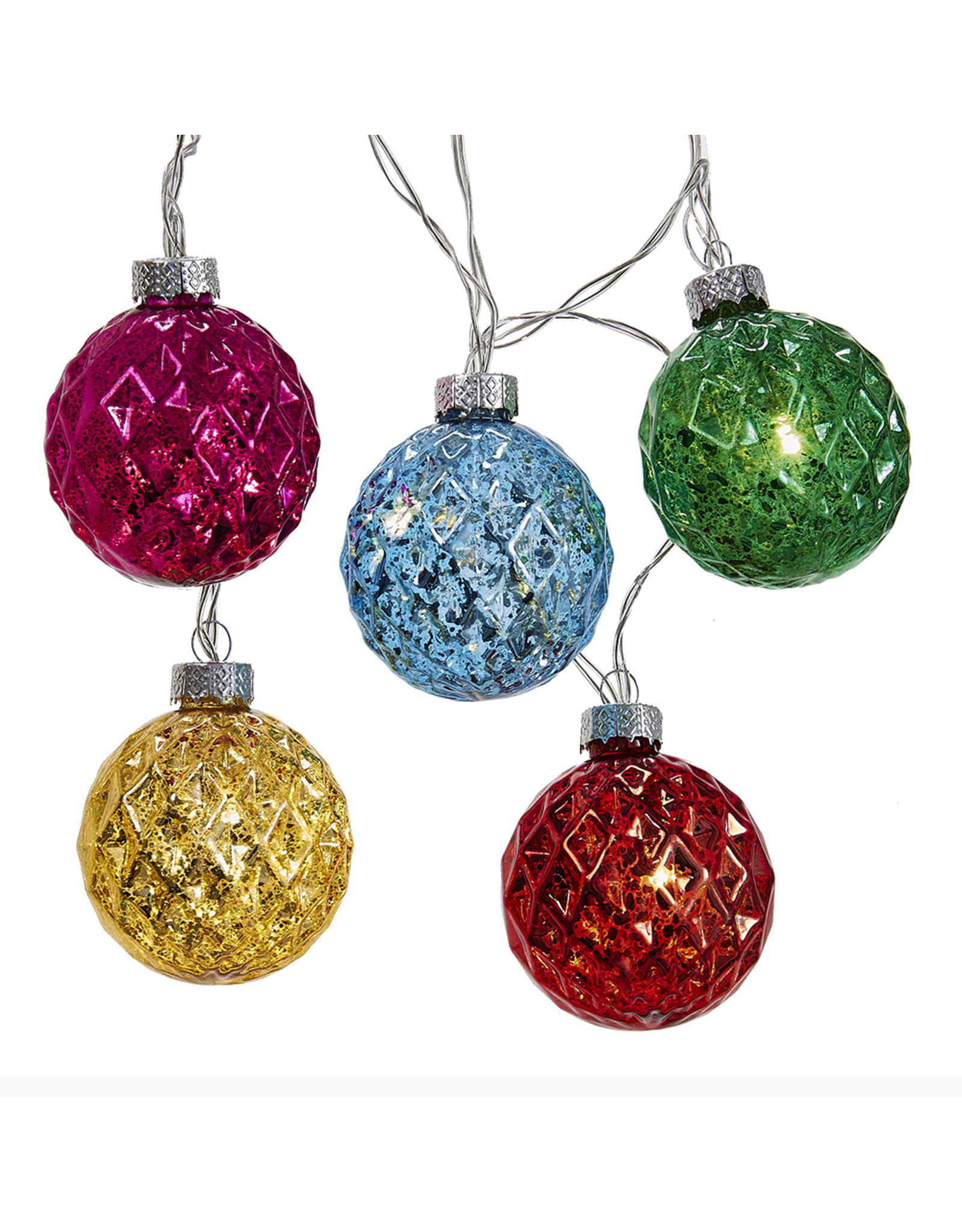 Kurt Adler Battery-Operated LED 10L Diamond Light Set Multi Color