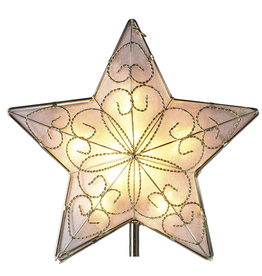 Kurt Adler Christmas Tree Topper 5 Point Wire Star 8.5 inch